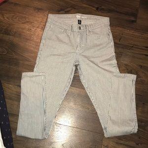 Gap leggings cream with black pinstripes
